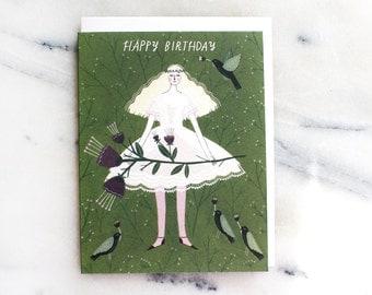 Forest Fairy birthday card