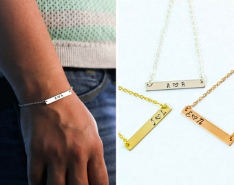 SALE • Dainty Bar Bracelet • Personalized Bar Bracelet • Anniversary Gift • Friendship Bar • Sister Gift • Short Bar • Little Bar