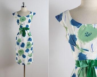 Vintage 50s dress | Miss Brooks vintage 1950s dress | floral dress medium | 5763