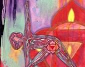 Yoga Art Print - Root Chakra - yoga wall art, yoga space decor, yoga artwork, yoga gift
