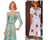 ON SALE Butterick 3354 Vintage 40s Style Dress Sewing Pattern Plus Size 14 - 18 Bust 36 - 40 inches UNCUT Factory Folds