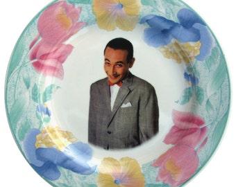 """Pee-wee Herman Portrait Plate - Altered Vintage Plate 8"""""""
