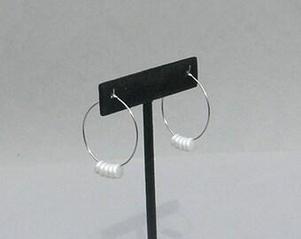White Fringe Earrings