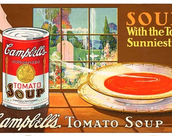 """Vintage Poster Reproduction-""""Campbell's Soup""""- c1920's"""