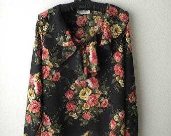 Vintage Floral Romantic Top