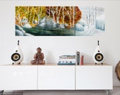 Triptych Seasons Art Print