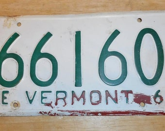 Vintage 1964 Vermont License Plate