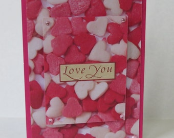 Love You Candy Hearts Christian Love Wedding Or Anniversary Card With Scripture