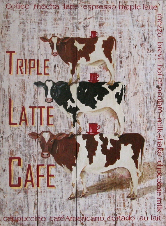 Triple Latte Cafe original acrylic painting