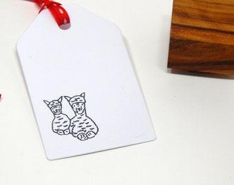 Baby Alpaca Olive Wood Stamp