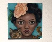 Miss Kitty resin art