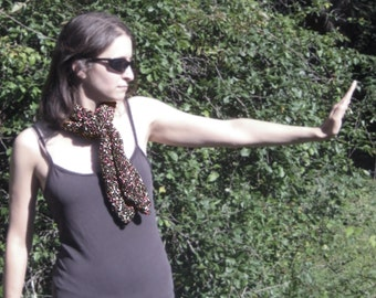 Matrix pink scarf