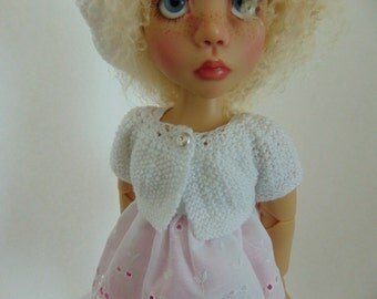 "Shrug Pattern to knit for 18"" Dolls such as American Girl Doll and Trinket Box Kids Mazey"