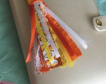 Planner tassel Candy corn