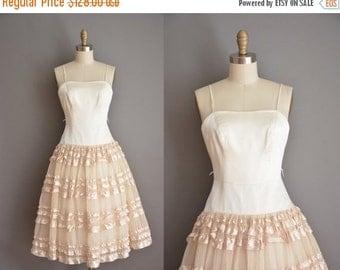 Anniversary SHOP SALE... vintage 1950s inspired dress / tier satin party dress / 50s dress