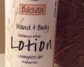 97% Natural LemonGrass Lane Coconut Milk BODY LOTION-4 fl oz