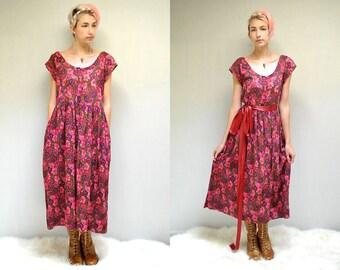 India Gauze Dress  //   Floral Babydoll Dress  //  THE KOMIL