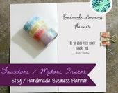 Midori Insert Etsy Business Planner Handmade Travelers Notebook Fauxdori