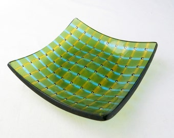Bubble Array Fused Glass Bowl