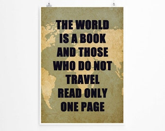 The World is A Book  Wall Art, Travel Print , Large Wall Art, Oversized Art, Trending Items, Trending Now