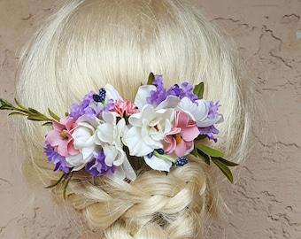 Boho Bridal Fascinator, Rustic Clip, Wedding Hair Comb, Wedding Clip, Wedding Hair Clip, Bridal Hair Comb, floral hair clip,  bridal hair