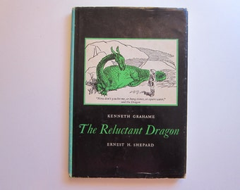 vintage book - The Reluctant DRAGON by Kenneth Grahame - 1966 edition children's book, illustrated