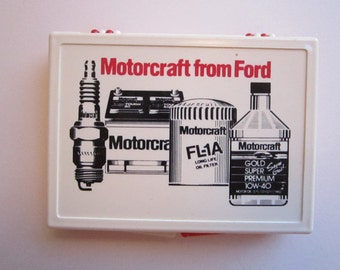 vintage MOTORCRAFT from FORD plastic box - advertising