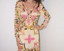 Vintage 1960s Emilio Pucci Dress / 60s Vintage Pucci Silk Jersey Dress