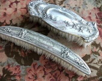 Antique Monogram E F F Brush Grooming Victorian