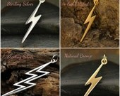 Lightning Bolt Charms  - C1153, Choose Your Favorite Style, Celestial Charms