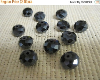 20% OFF ON SALE Deep Blue Chinese Crystal Faceted Roundelle 12mm, 20 pieces
