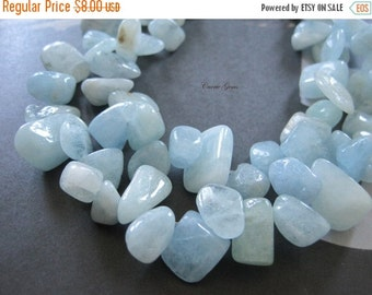 "20% OFF ON SALE 16"" long Aquamarine Chips 8mmx12mm Beads"