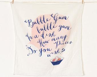 Bubble Gum Flour Sack Kitchen Towel