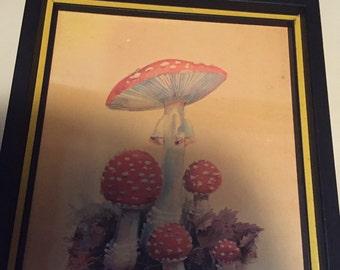 Vintage Mushroom Picture