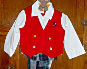 Toddler Suit Baby Suit Baby Boys Outfit Boys Dress Clothes Baby Boy 3 Piece Set 3 Piece Suit 3 Piece Outfit Vintage Baby Clothes Size 2T