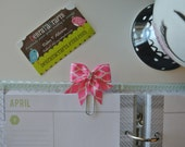 Pink Bow Planner clip