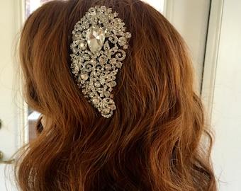 Rhinestone Hair Comb, Bridal Hair Clip,  Crystal  Bridal Headpiece, Rhinestone Hair Clip, Wedding Hair Comb