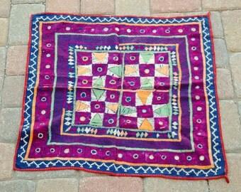 """Vintage Indian Textile 26""""x26"""""""