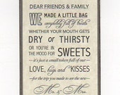 Custom Listing For Natalie - 16 Customized Friends And Family Welcome Tags