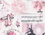 Pink Ballet Toile  - Timeless Treasures -  Fat Quarter