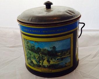 Australian Tin, D'Arcy W. Doyle Waltzing Matilda, Vintage