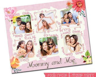 INSTANT DOWNLOAD - Photography 16x20 Storyboard Collage Board Template Collection, Mothers Day - E1032