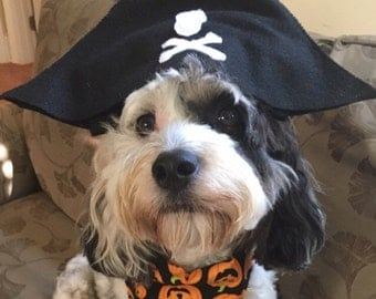 Dog Halloween Pirate Hat, Dog Costume, Hats for Dogs