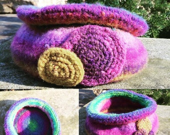 Felted Wool Noro Bowl