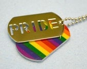 Rainbow Leather Surfer Necklace With Stainless Steel Pride Pendant Dog Tag Gay Lesbian