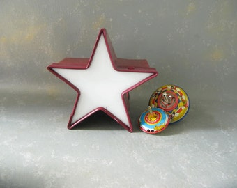 Large Vintage Sign Star, Light up Star, Channel,  Red,electric