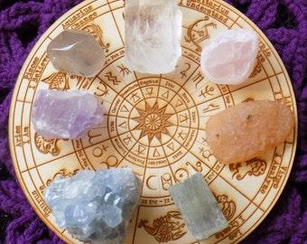 Large Unique Raw Crystal Chakra Bundle Rose Quartz Seer Stone Raw Carnelian Fluorite Celestite Ametrine smokey tumbled Crystals Stones Grid