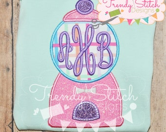 Gumball Machine 1 Applique Machine Embroidery Design INSTANT DOWNLOAD Candy