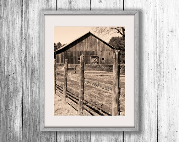Rustic Monogram Wall Decor : Personalized barn art rustic wall decor country home