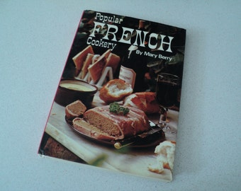 Mary Berry Popular French Cookery Cookbook 1970s Judge of The Great British Baking Show